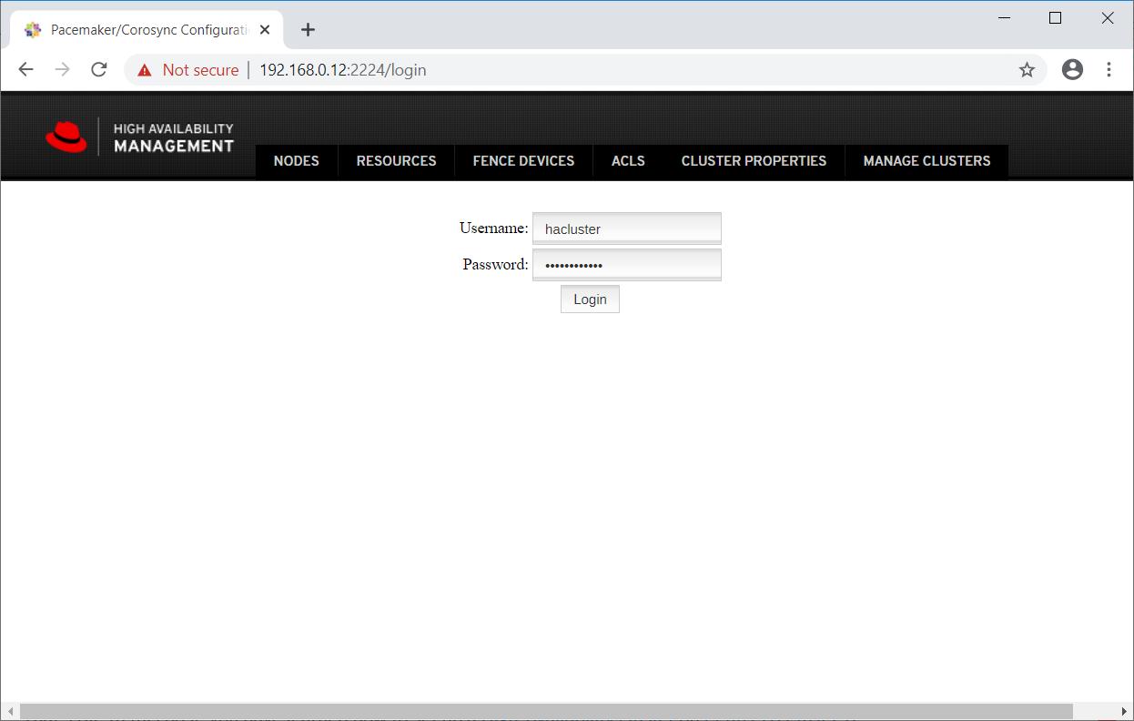 Login To PCSD Web UI
