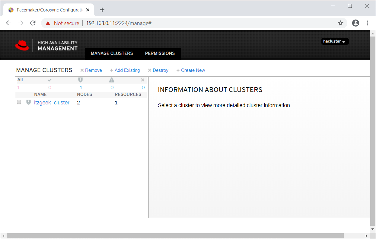 Cluster List
