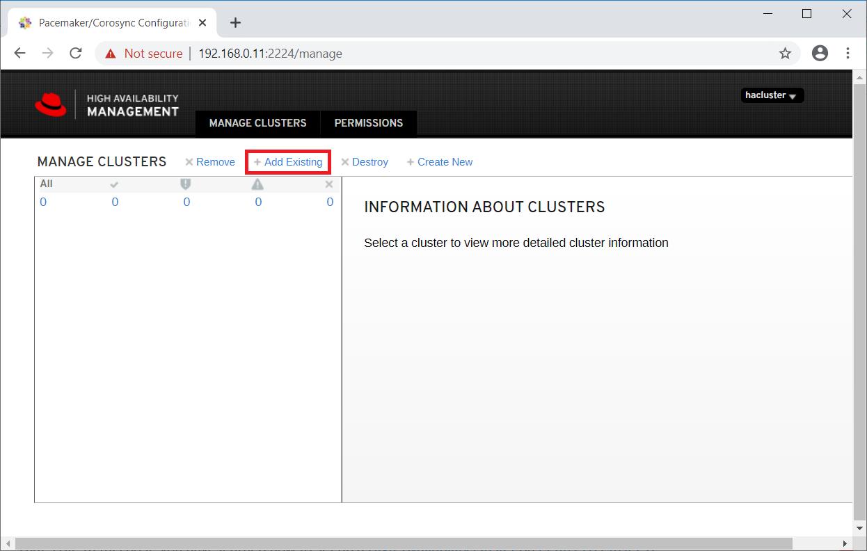 Manage Cluster