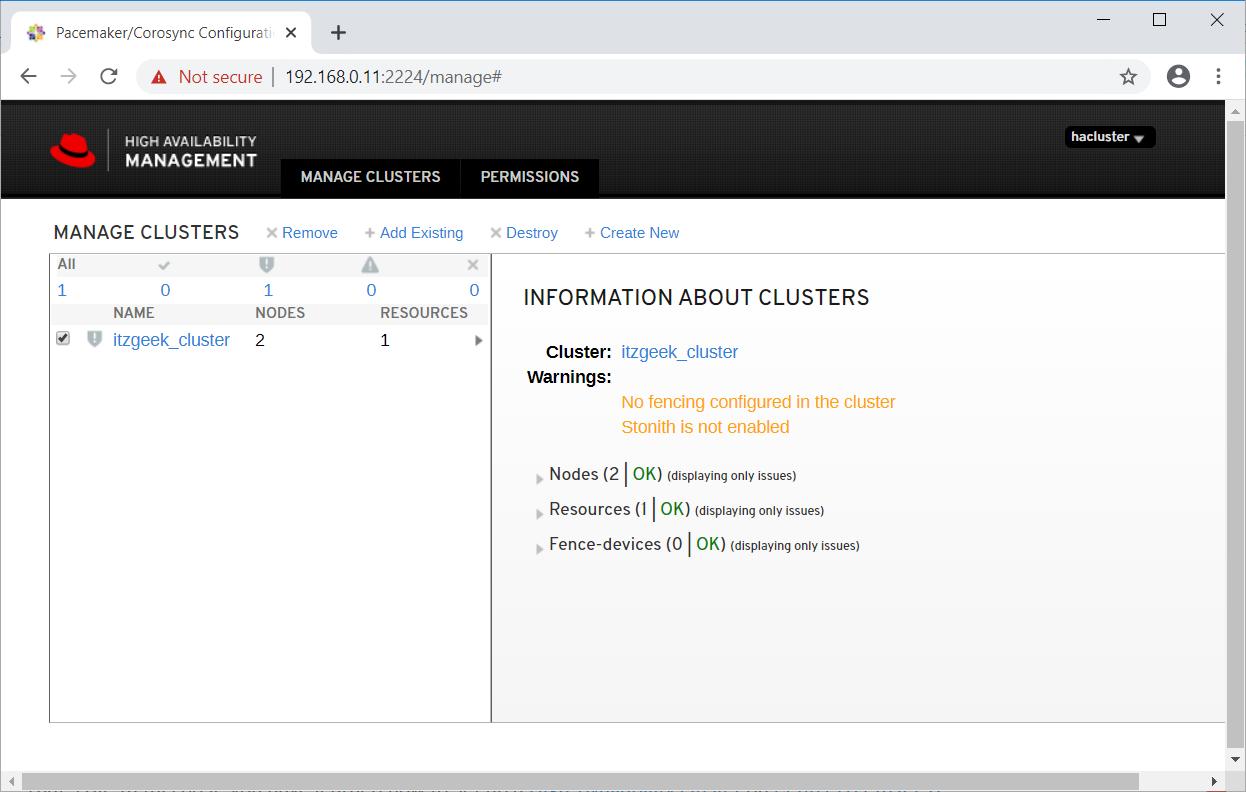 Cluster Details