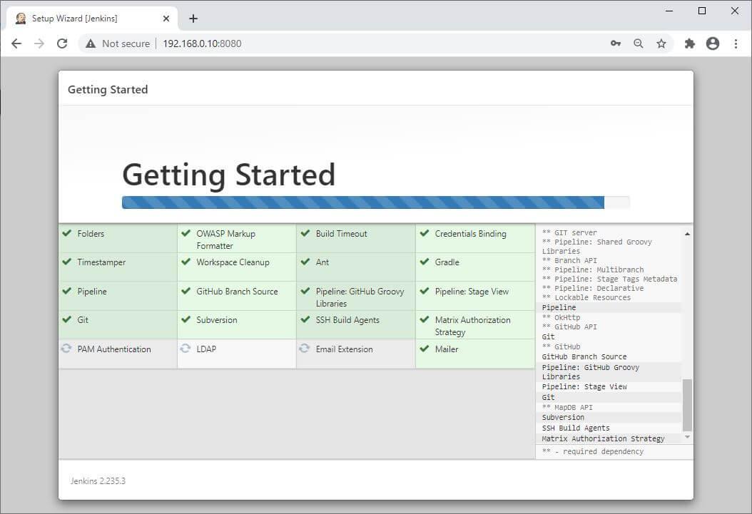 Installing Jenkins Plugins