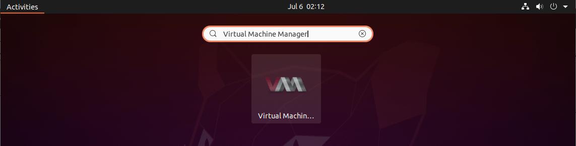 Start Virtual Machine Manager