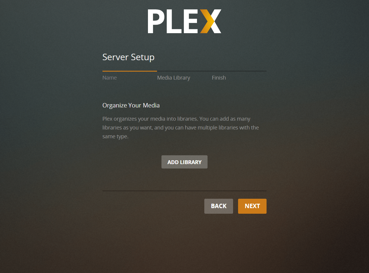 Add Library to Plex Media Server