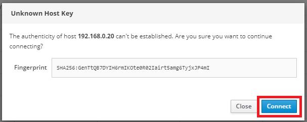 Unknown Host Key