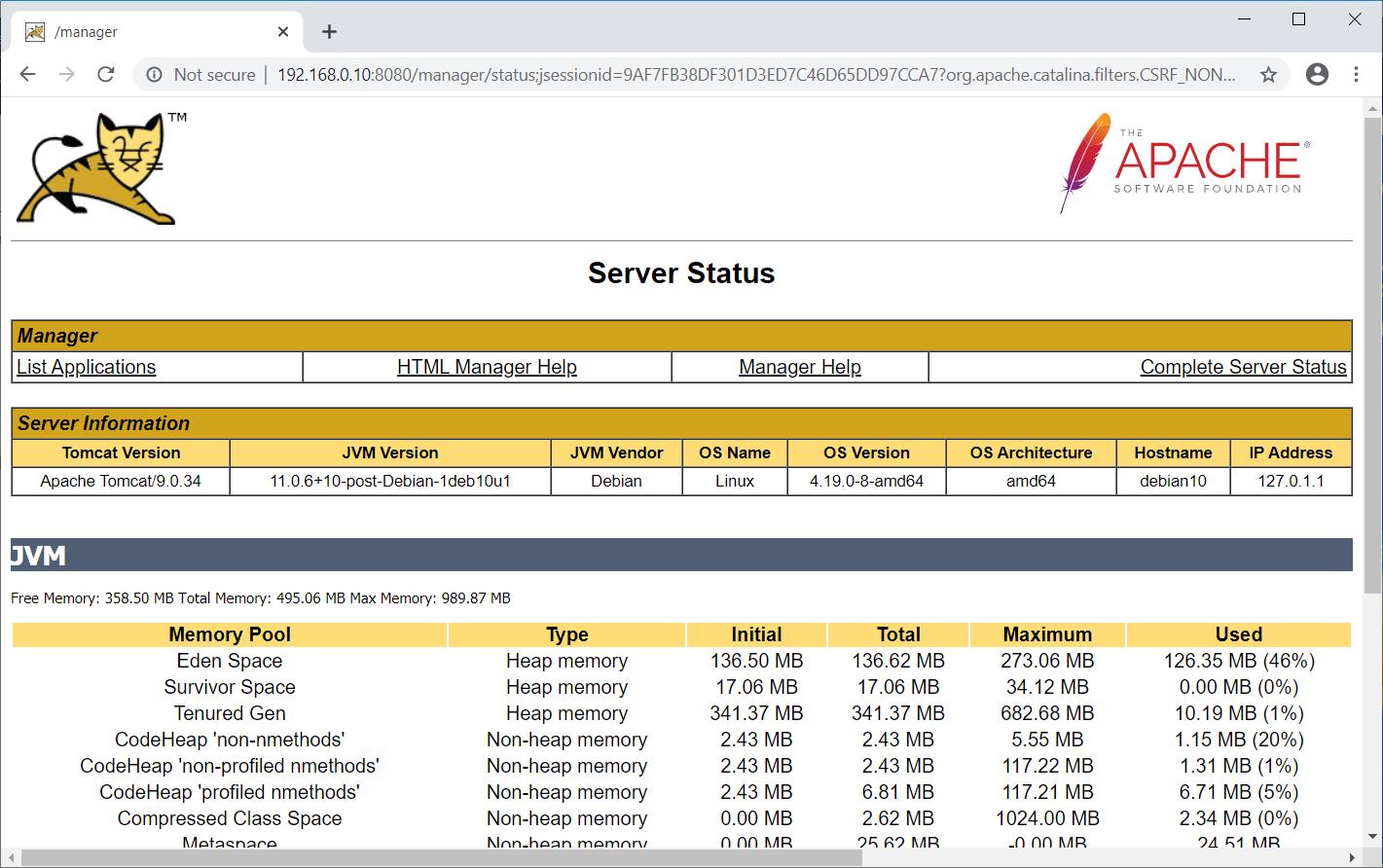 Tomcat Server Status