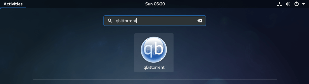 Start qBittorrent on Fedora 27