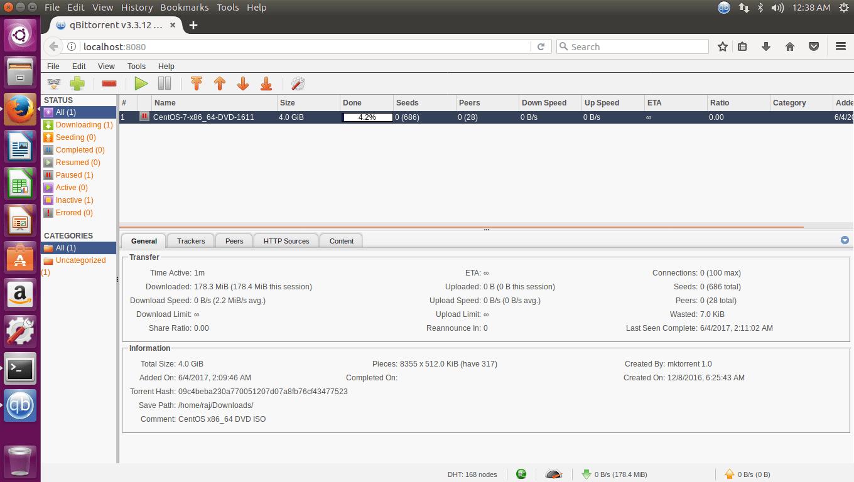 Install qBittorrent on Ubuntu 16.04 - qBittorrent Web User Interface