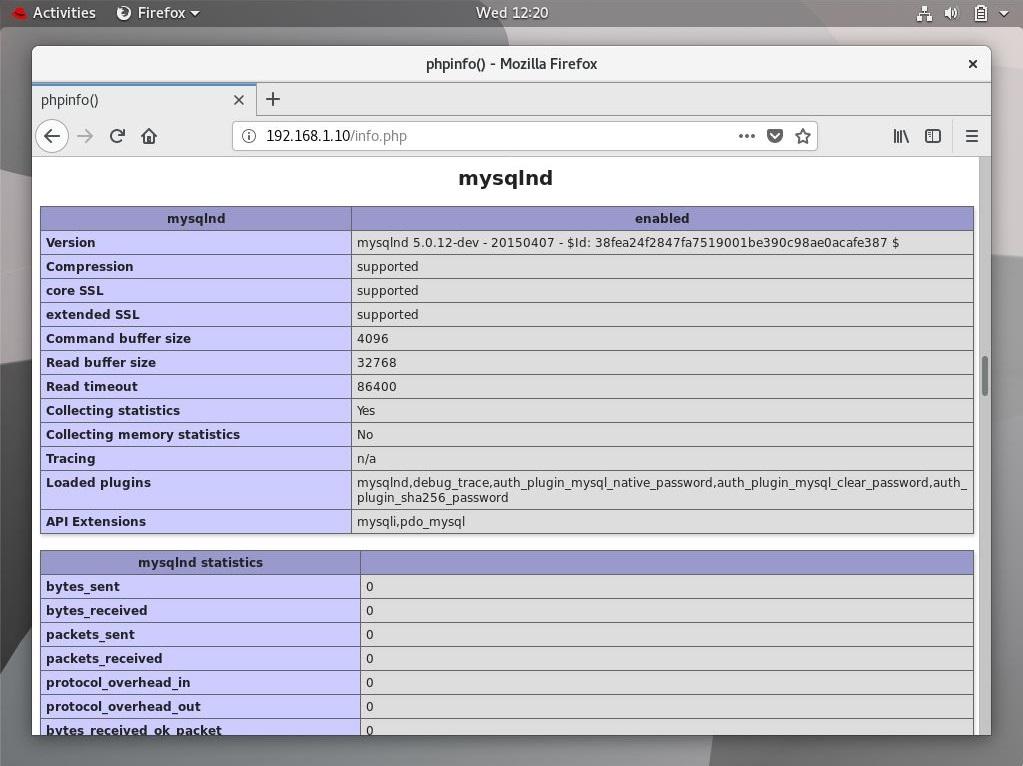 Install LAMP Stack on RHEL 8 - MariaDB Support Information