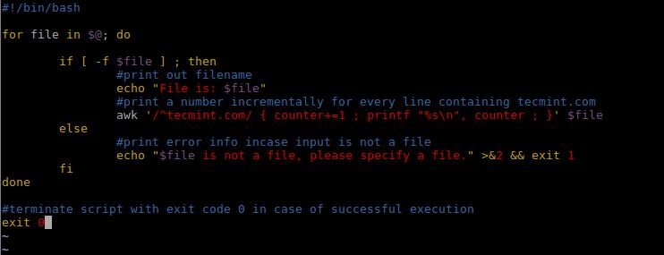 Alter Shell Script