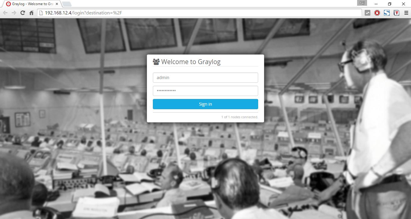 Install Graylog2 on Ubuntu 14.04 - Login Screen