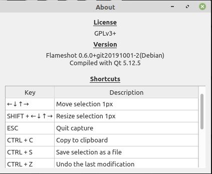 Flameshot Shortcut Keys