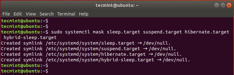 Disable Suspend and Hibernation in Ubuntu