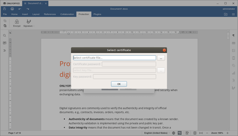 Select Digital Certificate