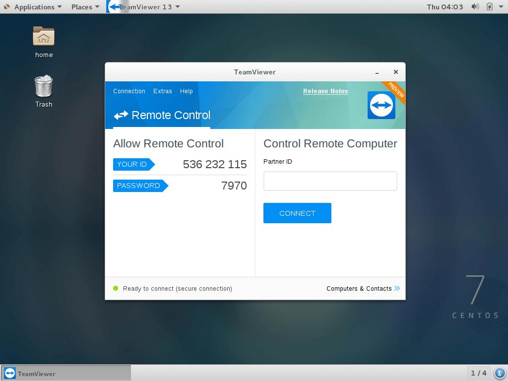 TeamViewer 15 Running on CentOS 7