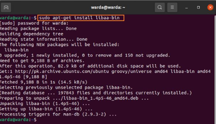Linux Aafire Command