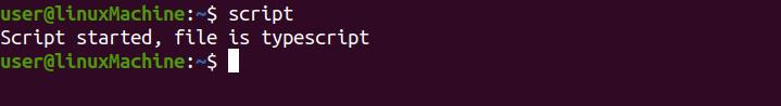 """How to Run """"script"""" Command in Linux?"""