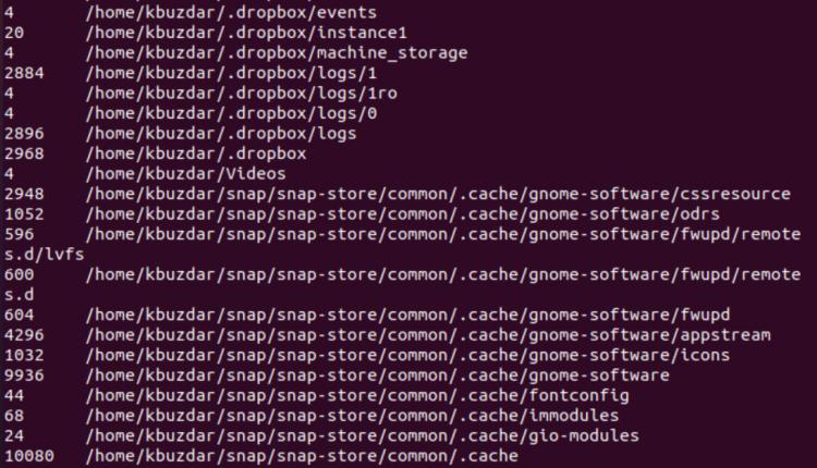 Linux Du Command Examples