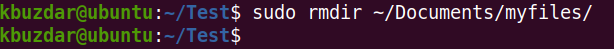 Linux rmdir Command Examples