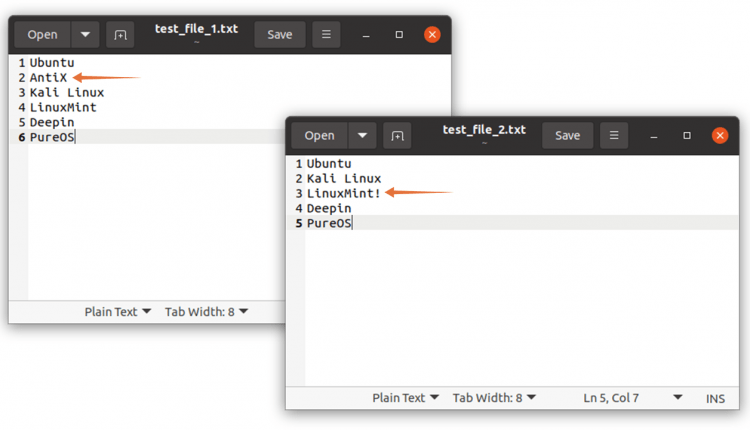 How to Compare Two Files in Linux