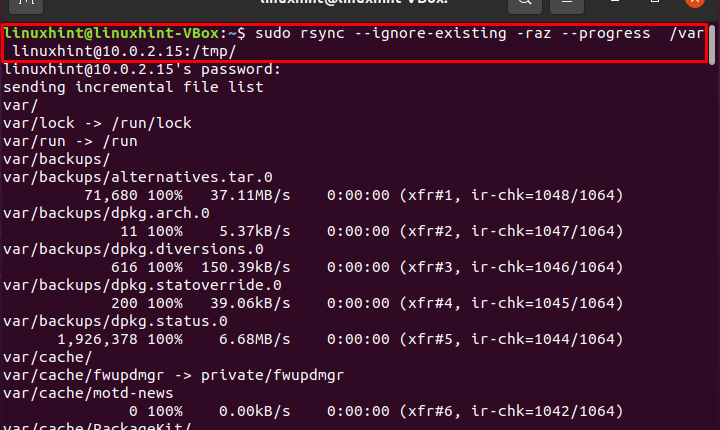 How to use rsync with –ignore-existing?