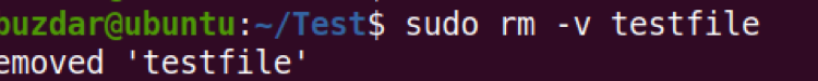 """Linux """"rm"""" Command Example"""