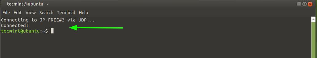 ProtonVPN Connected