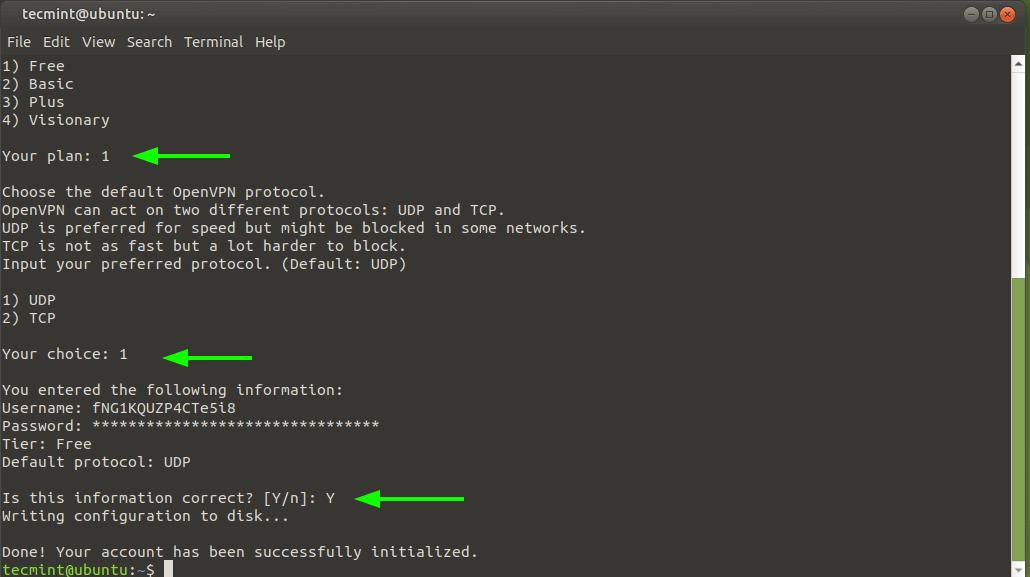 Choose OpenVPN Protocol