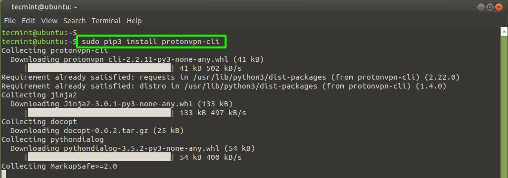 Install ProtonVPN in Ubuntu