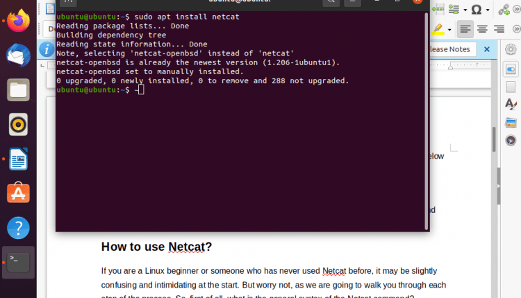 How to send and receive messages with NC in Linux?