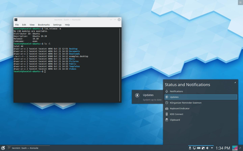 KDE Plasma Notifications Window