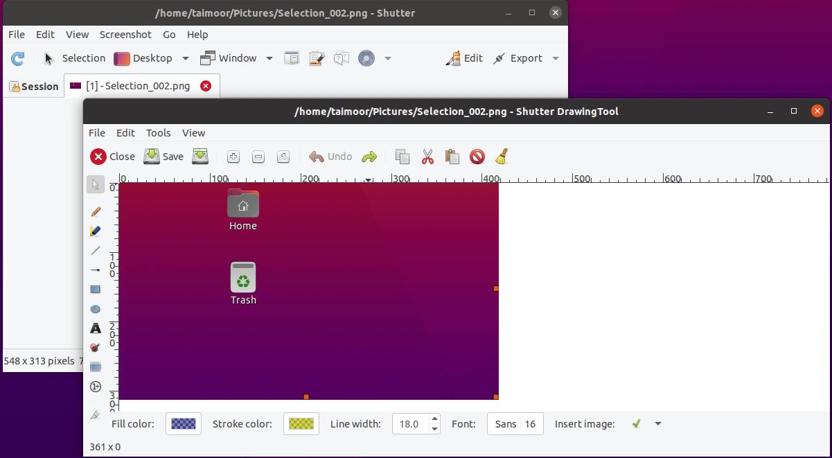 Taking Ubuntu screenshots with shutter