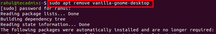 Remove desktop environment from Ubuntu