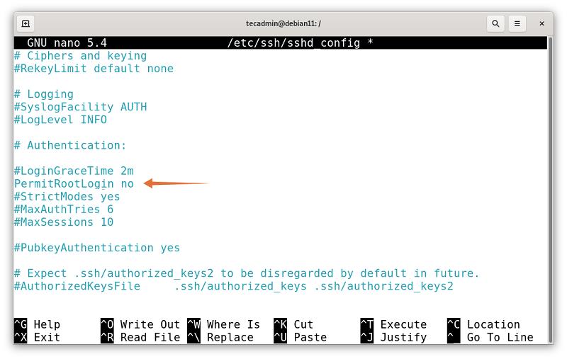 Disable Root Login on Debian 11