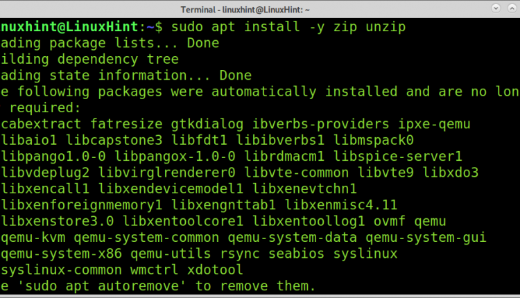 All zip and unzip File Operations on Linux