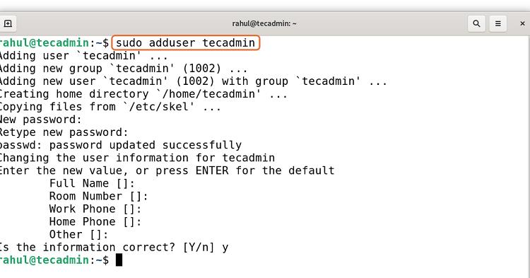 Create Sudo Account in Debian 11