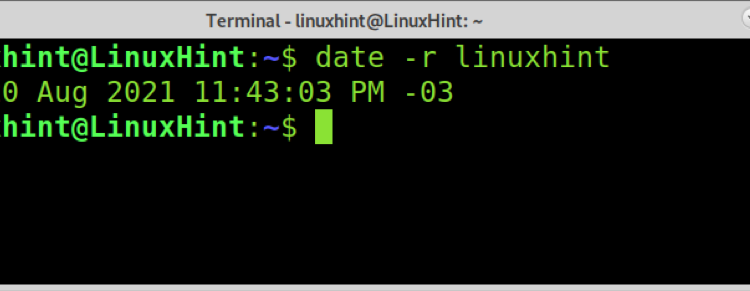 Get Last Modified Date of File in Linux