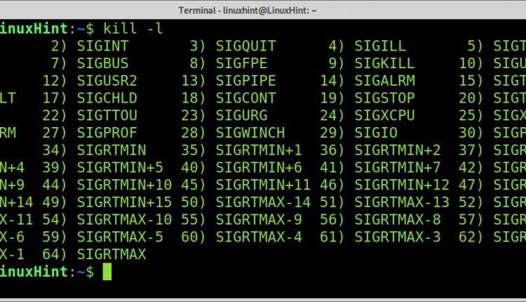 Linux kill signal numbers